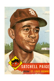 Topps Satchell Paige Baseball Card. 1953; Archives Center, NMAH Pósters