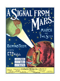 """""""A Signal from Mars"""" Sheet Music from the National Museum of American History ポスター"""