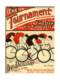 """Sheet Music Covers: """"The Tournament"""" Composed by Dan J. Sullivan, 1899 Affiches"""