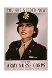 Join the Army Nurse Corps, 1943 Recruiting Poster For US Army Nurses Posters