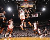 Miami, FL - JUNE 9 LeBron James and Tiago Splitter Fotografía
