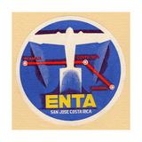 Air and Space: ENTA Baggage Label 写真プリント