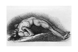 The Contracted Body of Soldier Suffering from Tetanus Posters av Charles Bell