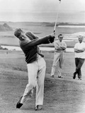 President John Kennedy Playing Golf at Hyannis Port. July 20, 1963 Photographie