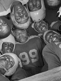 Africans American Football Huddle at Bethune-Cookman College,1943 Foto