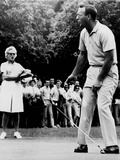 Arnold Palmer, Reacting to a Missed Put at the Westchester Country Club in 1964 Foto