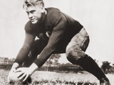 Future President Gerald Ford at Football Practice at University of Michigan, Ca. 1933 Foto