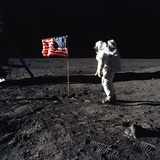 Apollo 11 Astronaut Buzz Aldrin During the First Lunar Landing, July 20, 1969 Foto