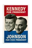 Kennedy For President/Johnson For Vice President, 1960 Democratic Presidential Campaign Poster Plakater