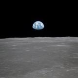 Apollo 11 Earth Rise over the Moon, July 20, 1969 Fotografía