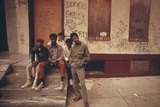 African American Teenage Street Gang Members in North Philadelphia, Ca. 1975 Foto