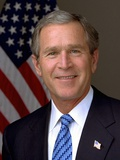 Official Photograph Portrait of US President George W. Bush. 2003 Foto