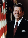 Official Portrait of President Reagan Taken on February 7 1981. Po-Usp-Reagan_Na-12-0060M Foto