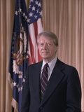 Official Portrait of President Jimmy Carter, Ca. 1977-1980 Foto