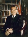President Richard Nixon in an Official Portrait Taken in the Oval Office. July 8 1971 Photo