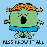 Miss Know It All Posters av Todd Goldman