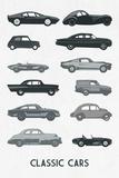 Vieilles voitures Poster par Clara Wells