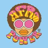 Afro Power Kunstdrucke von Todd Goldman