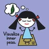 Visualize Inner Peas Kunstdruck von Todd Goldman