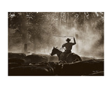 Lost Canyon Roundup Giclee Print by Barry Hart
