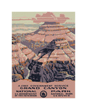 Parco nazionale del Grand Canyon Stampa giclée di  Vintage Reproduction