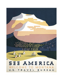 See America - Welcome to Montana I Giclee-trykk av  Vintage Reproduction