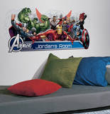 Avengers Assemble Personalization Headboard Peel and Stick Wall Decals Autocollant mural