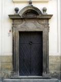Prague Door I Fotografisk tryk af Jim Christensen