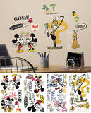Mickey & Friends - Mickey Mouse Cartoons Peel and Stick Wall Decals Autocollant mural