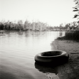 Lonely Inner Tube Photographic Print by Bob Stefko