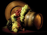 Wine Grapes Lámina fotográfica por C. McNemar