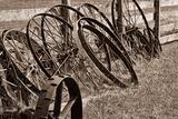 Antique Wagon Wheels II Impressão fotográfica por C. McNemar