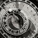 Prague Clock I Premium fototryk af Jim Christensen
