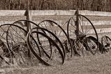 Antique Wagon Wheels I Impressão fotográfica por C. McNemar