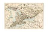 Karte von Ontario, Kanada, 1870s Giclée-Druck