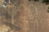 Native American Petroglyphs in Lobo Canyon, Cebolla Wilderness, New Mexico Lámina fotográfica