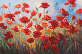 Poppies at Dusk III Poster by Stanislav Sidorov