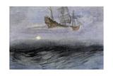 "The Legendary ""Flying Dutchman,"" a Phantom Ship Feared by Sailors Giclée-Druck"