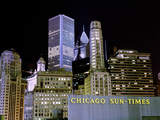Chicago at Night I Photographic Print by Bob Stefko
