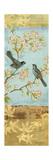 Catbirds and Blooms Panel Affiches par Pamela Gladding