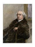 John A. Macdonald, First Prime Minister of Canada after Independence from Britain Stampa giclée