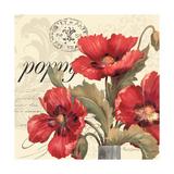Red and White I Giclée-Premiumdruck von Pamela Gladding