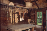 Provisions Drying at Restored Farmstead, Great Smoky Mountains National Park, North Carolina Photographic Print