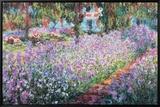 Jardin de Monet Reproduction sur toile encadrée par Claude Monet
