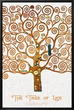 The Tree of Life Pastiche Marzipan Framed Canvas Print by Gustav Klimt