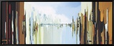 Urban Abstract No. 242 Leinwandtransfer mit Rahmung von Gregory Lang