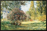 The Parc Monceau, Paris, c.1876 Inramat kanvastryck av Claude Monet