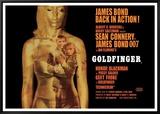 Goldfinger-Projection Framed Canvas Print