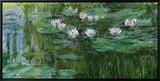 Waterlilies Framed Canvas Print by Claude Monet