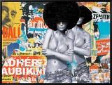 Bikinis Leinwandtransfer mit Rahmung von Laurent Durrey